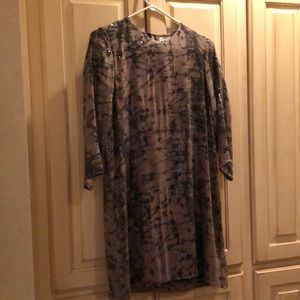 Parker Black and Gray Sequined dress sz M